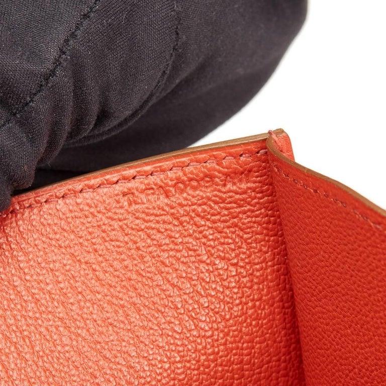 c4715ff71a8d Hermes Sanguine Tadelakt Leather Medor 23 Clutch at 1stdibs