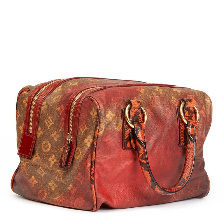Brown Louis Vuitton Acid Coated Canvas & Karung Snakeskin Man Crazy Jokes For Sale
