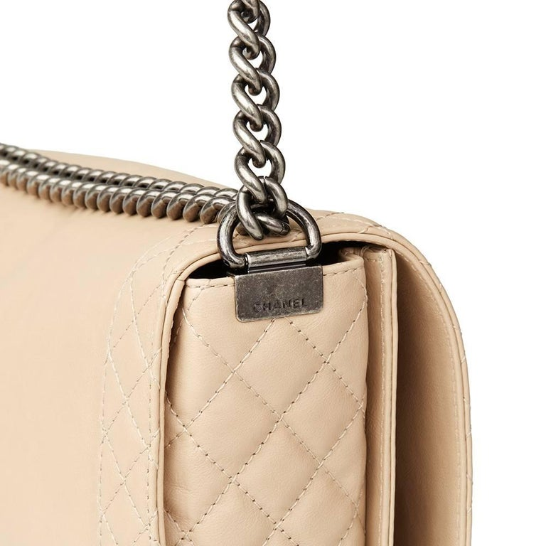 2014 Chanel Beige Quilted Lambskin XL Le Boy Reverso 3