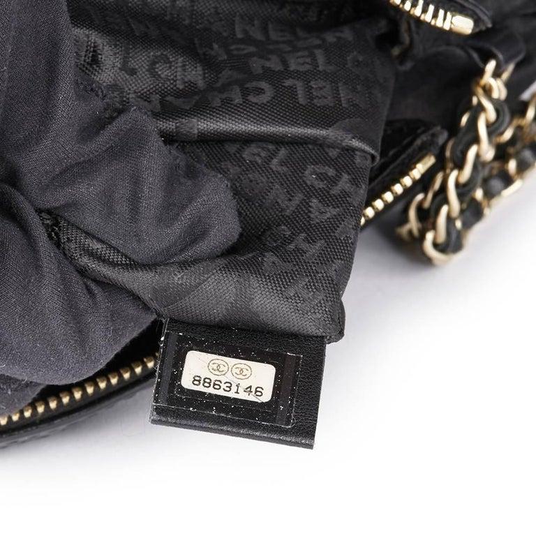 Chanel Black Satin Timesless Four Leaf Clover Wristlet Clutch  For Sale 3