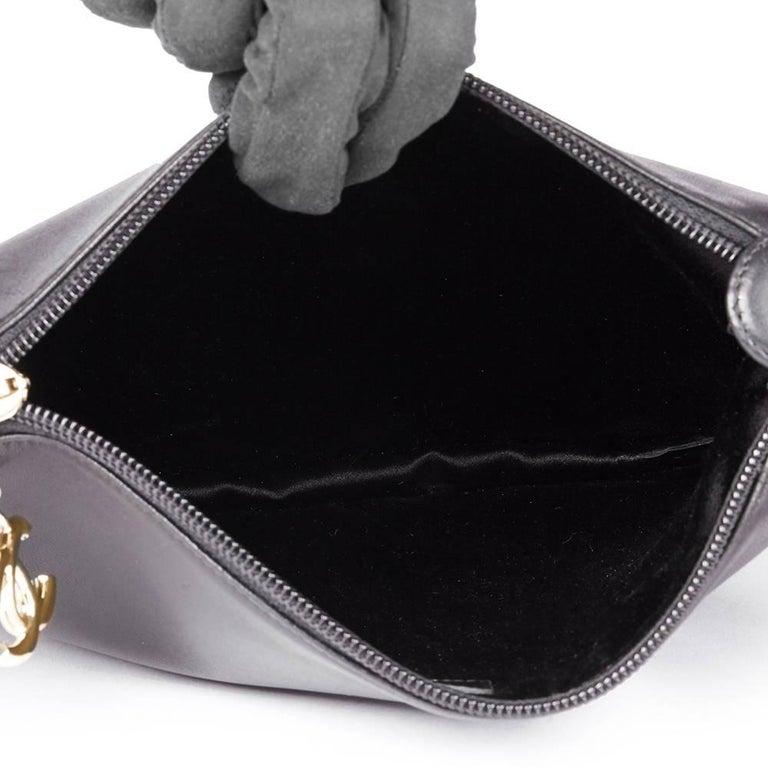 2013 Chanel Black Lambskin Chain Around Timeless Wristlet  For Sale 4