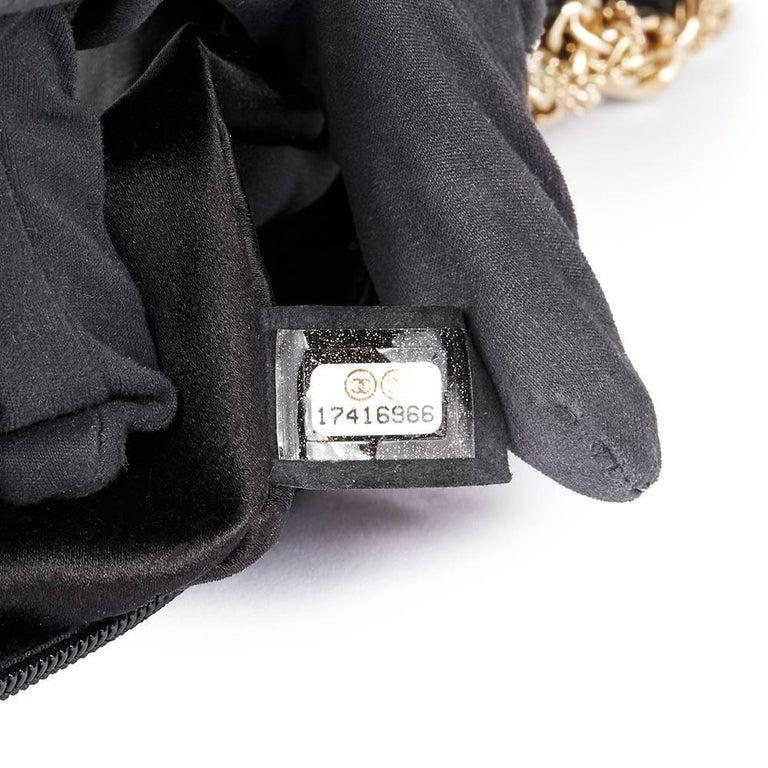 2013 Chanel Black Lambskin Chain Around Timeless Wristlet  For Sale 3
