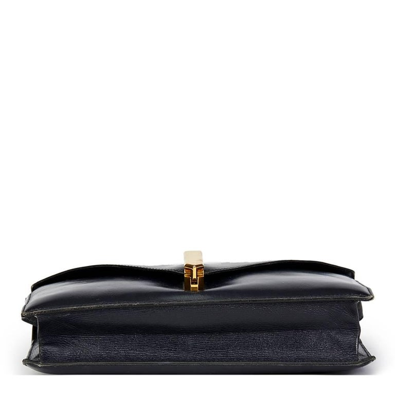 Women's Hermes Navy Box Calf Leather Vintage Jimmy For Sale