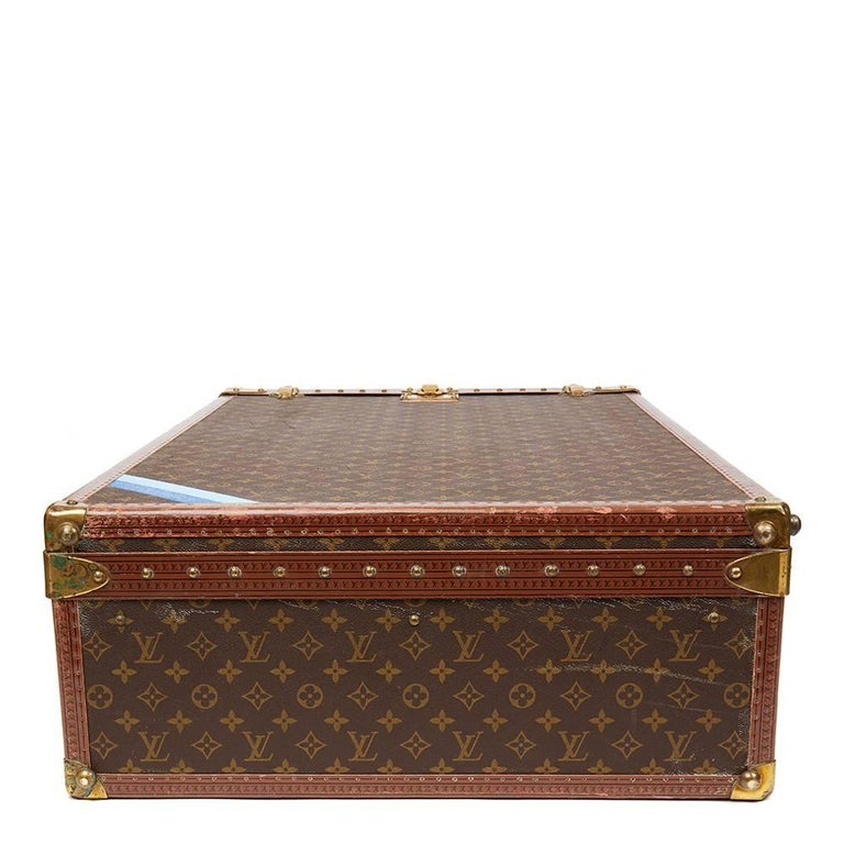 Women's or Men's 1980 Louis Vuitton Brown Monogram Coated Canvas Vintage Wardrobe Trunk For Sale