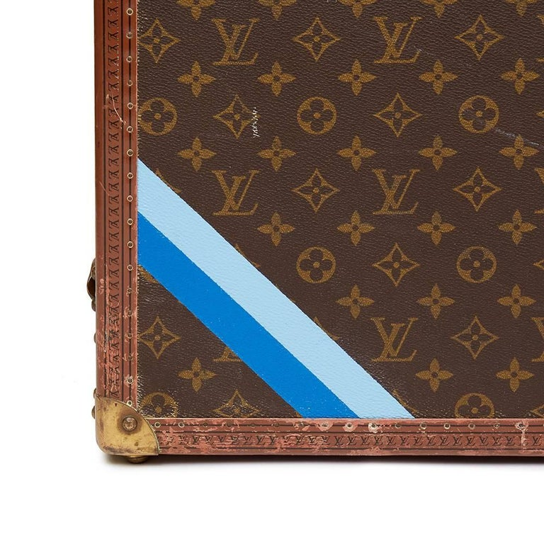 1980 Louis Vuitton Brown Monogram Coated Canvas Vintage Wardrobe Trunk For Sale 3