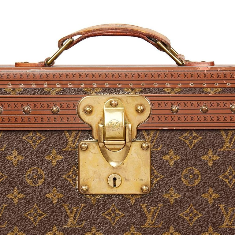 1980 Louis Vuitton Brown Monogram Coated Canvas Vintage Wardrobe Trunk For Sale 1