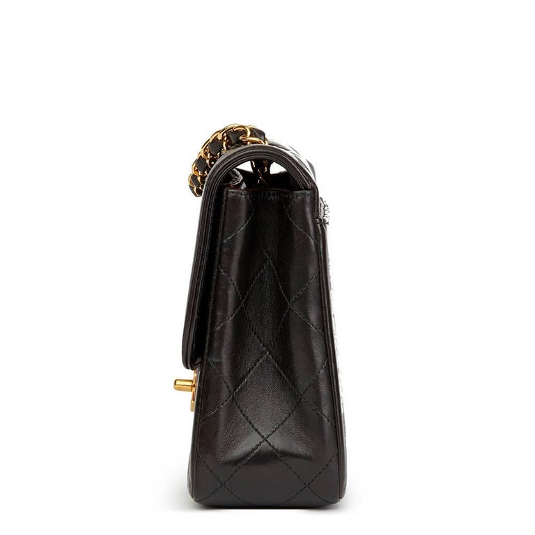 CHANEL Black Quilted Lambskin Vintage Classic Single Flap Bag  Xupes Reference: HB1857 Serial Number: 3613650 Age (Circa): 1994 Accompanied By: Chanel Dust Bag, Box, Authenticity Card, Care Booklet Authenticity Details: Authenticity Card, Serial
