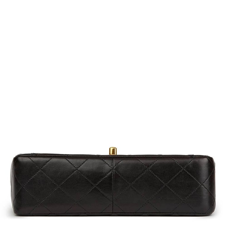 Chanel Black Quilted Lambskin Vintage Classic Single Flap Bag, 1990s  For Sale 1
