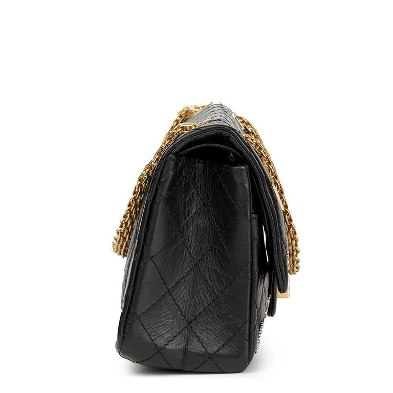 CHANEL Black Quilted Aged Calfskin Leather Casino Lucky Charms 2.55 Reissue 225 Double Flap Bag  Xupes Reference: HB1886 Serial Number: 22255369 Age (Circa): 2016 Accompanied By: Chanel Dust Bag, Box Authenticity Details: Serial Sticker (Made in