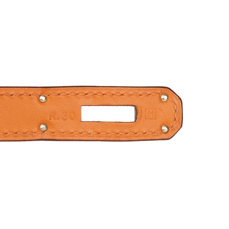 Hermes Orange H Calf Leather Kelly 32cm Sellier Bag, 2004  For Sale 3