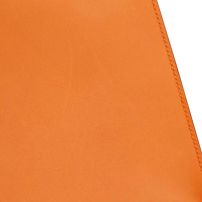 Hermes Orange H Calf Leather Kelly 32cm Sellier Bag, 2004  For Sale 5