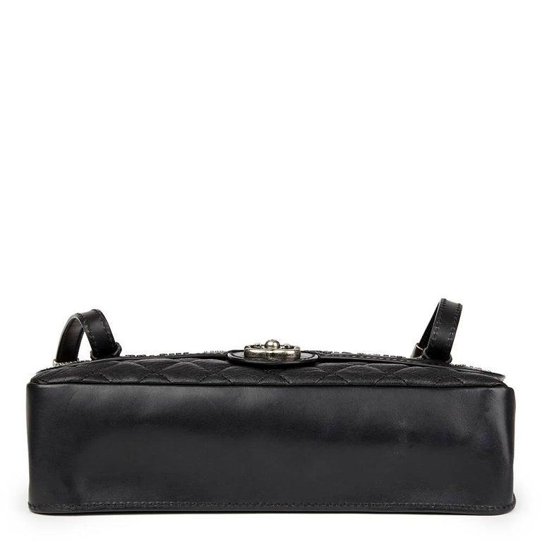 0b7bb368b590 Women s 2014 Chanel Black Studded Calfskin Leather Paris-Dallas Studded  Buckle Flap Bag For Sale