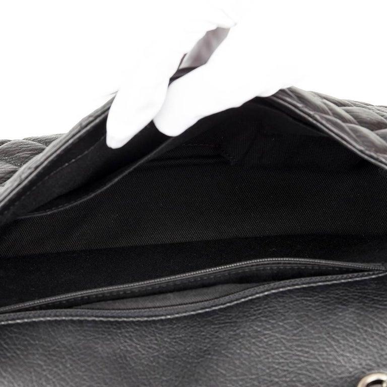 920091f6a7af 2014 Chanel Black Studded Calfskin Leather Paris-Dallas Studded Buckle Flap  Bag For Sale 5