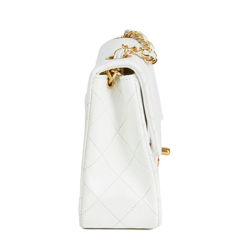 b3cd14790a29c CHANEL White Quilted Lambskin Vintage Mini Flap Bag Xupes Reference  HB1889  Serial Number  2462620