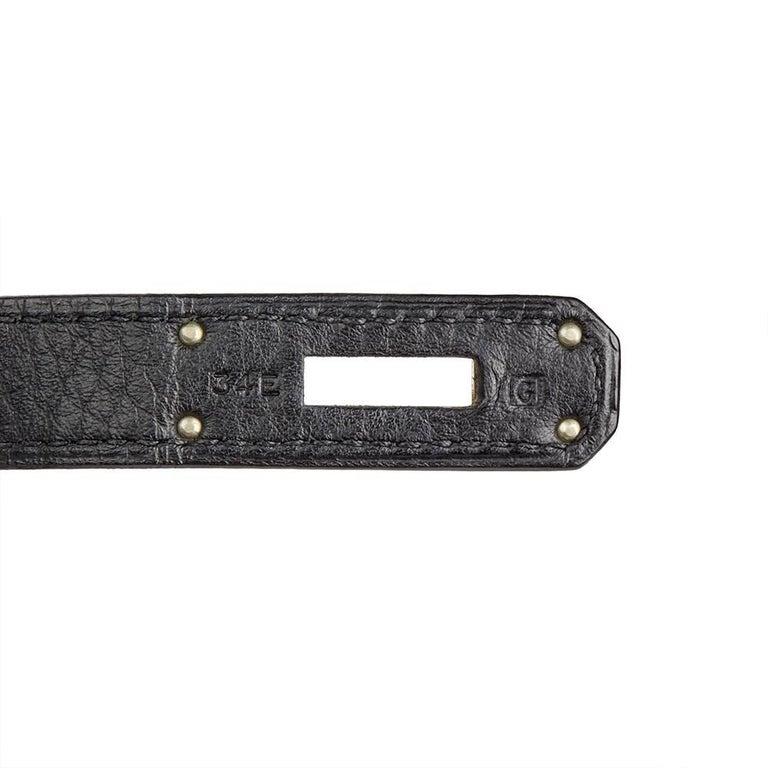 2003 Hermes Black Clemence Leather Birkin 40cm For Sale 4