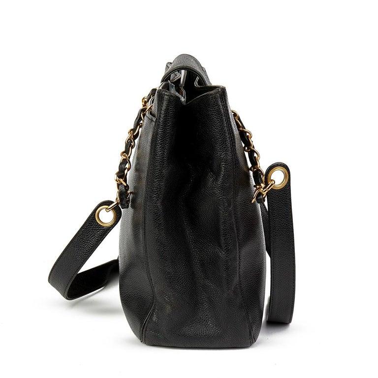 Chanel Black Caviar Leather Vintage Classic Shoulder Bag In Good Condition  For Sale In Bishop s Stortford fdd683c365959