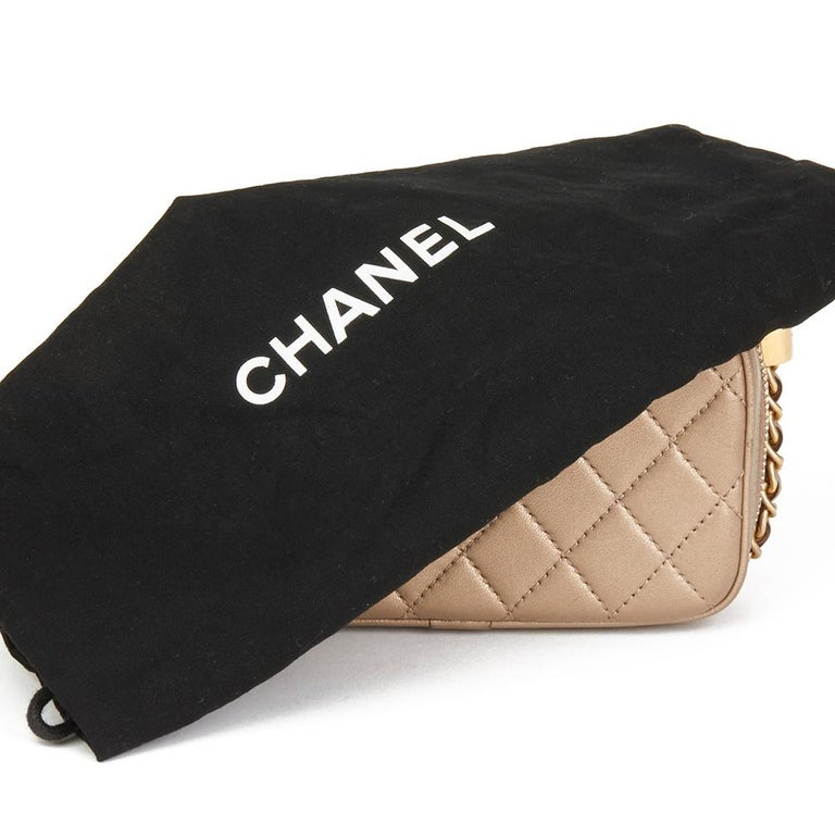 2015 Chanel Bronze Quilted Lambskin Small Coco Boy Camera Case 4