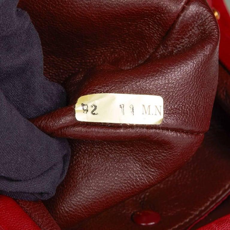 1993 Chanel Red Quilted Velvet Timeless Frame Bag  For Sale 3