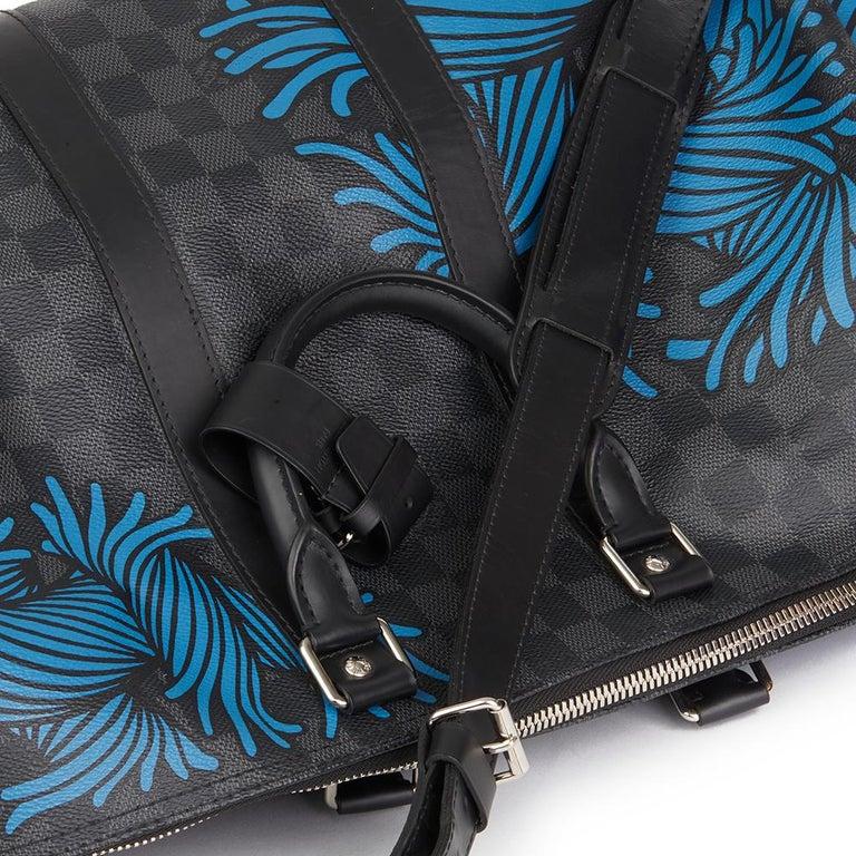 2010s Louis Vuitton Graphite Damier Christopher Nemeth Keepall Bandouliere 45  For Sale 5