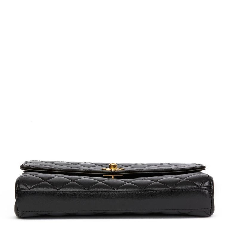 1997 Chanel  Black Quilted Lambskin Vintage Classic Top Handle Clutch  In Excellent Condition For Sale In Bishop's Stortford, Hertfordshire