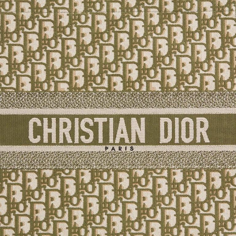 Christian Dior Green Oblique Monogram Canvas Book Tote