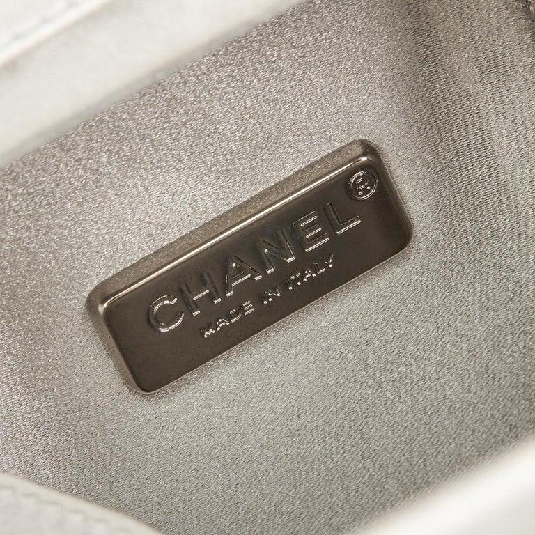 7dc98f3c1247 Chanel Silver Iridescent Goatskin Leather Lait De Coco Milk Carton Bag,  2010s For Sale 4