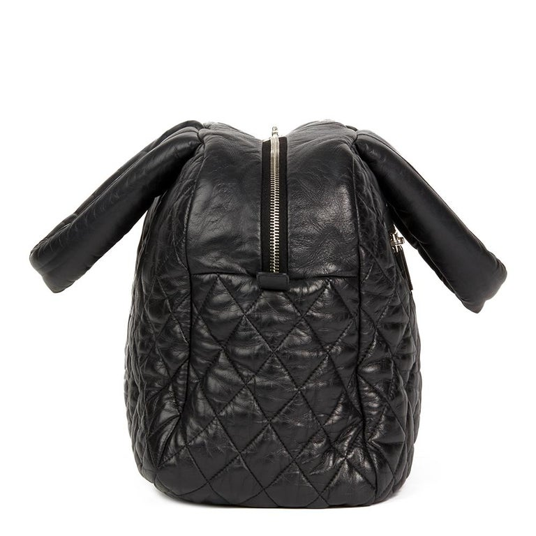 38ea4ae45fb5 CHANEL Black Quilted Lambskin Coco Cocoon Bowling Bag Xupes Reference   HB2132 Serial Number  13199779