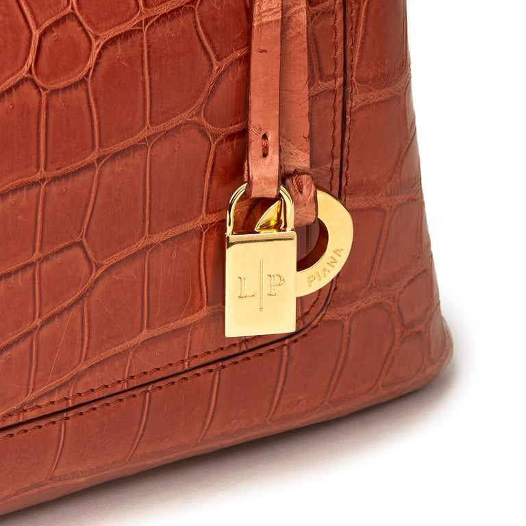 Loro Piana Autumn Leaves Matte Crocodile Leather Bellevue Media, 2000  For Sale 1