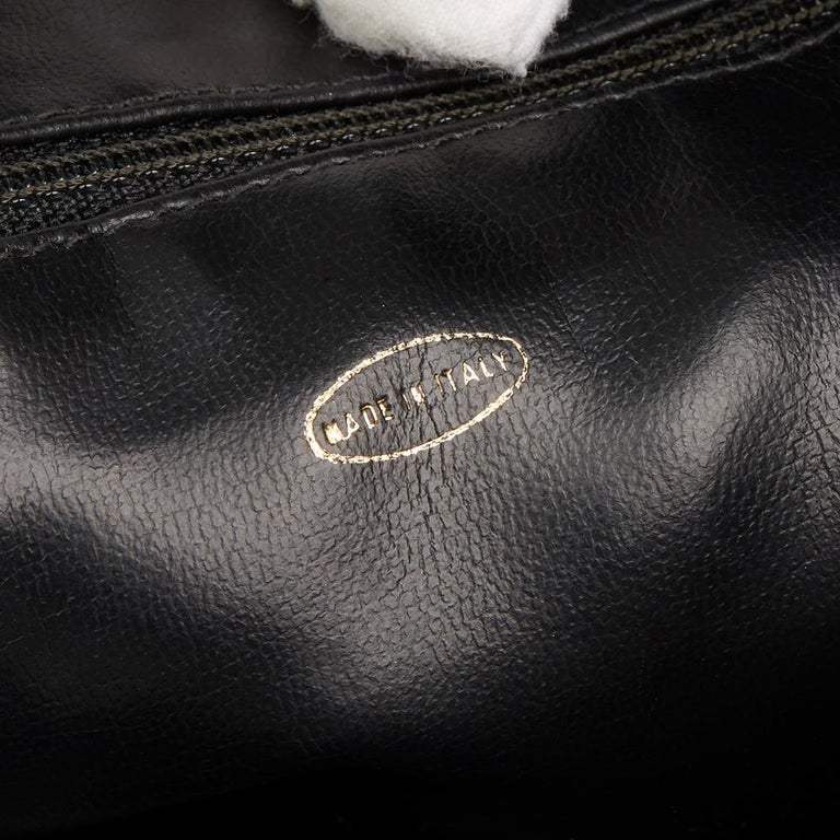 1991 Chanel Black Quilted Lambskin Vintage Timeless Charm Camera Bag For Sale 3