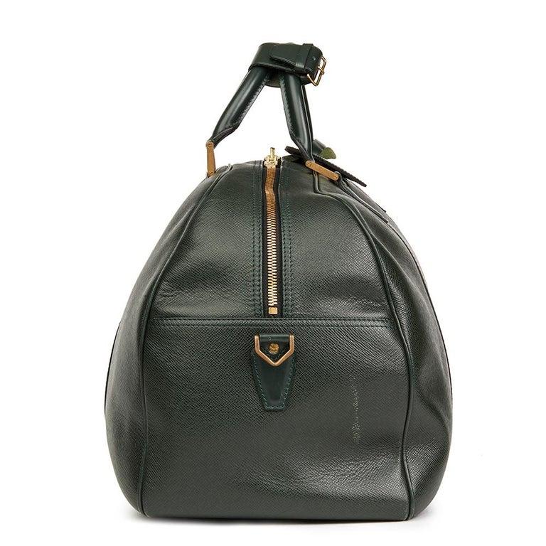 1995 louis vuitton green taiga leather vintage kendall pm