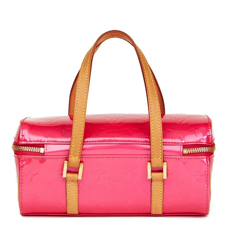 Red 2003 Louis Vuitton Fuchsia Monogram Vernis Leather Sullivan Horizontal PM For Sale