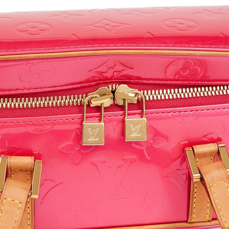 Women's 2003 Louis Vuitton Fuchsia Monogram Vernis Leather Sullivan Horizontal PM For Sale