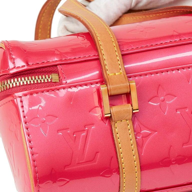 2003 Louis Vuitton Fuchsia Monogram Vernis Leather Sullivan Horizontal PM For Sale 1