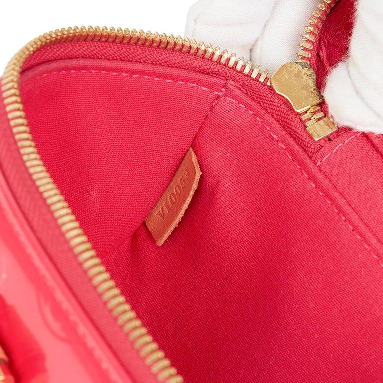 2003 Louis Vuitton Fuchsia Monogram Vernis Leather Sullivan Horizontal PM For Sale 3