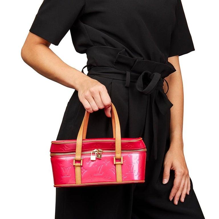 2003 Louis Vuitton Fuchsia Monogram Vernis Leather Sullivan Horizontal PM For Sale 5