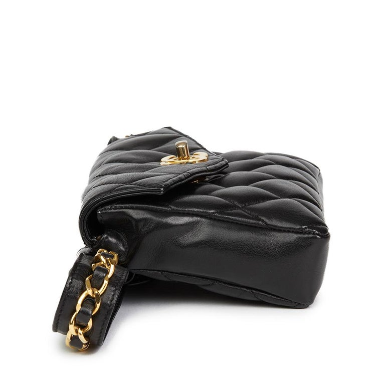 1ce377d3132c 1990's Chanel Black Quilted Lambskin Vintage Classic Belt Bag In Good  Condition For Sale In Bishop's