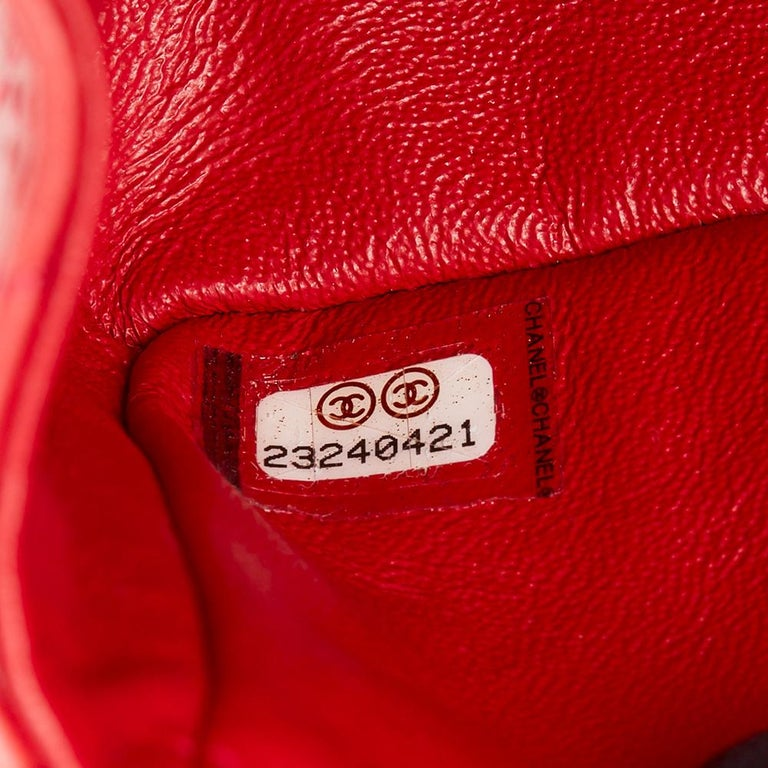 2017 Chanel Red Quilted Calfskin Leather 2.55 Reissue 224 Double Flap Bag For Sale 5