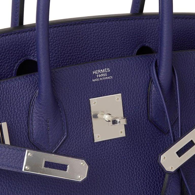 5a699a53d4 2018 Hermès Bleu Encre Togo Leather Birkin 30cm For Sale 2