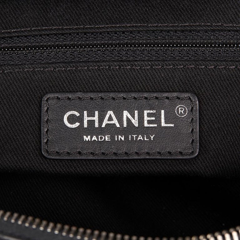 2014 Chanel Black Quilted Calfskin, Suede & Pony Fur Paris-Dallas Boston Bag For Sale 4