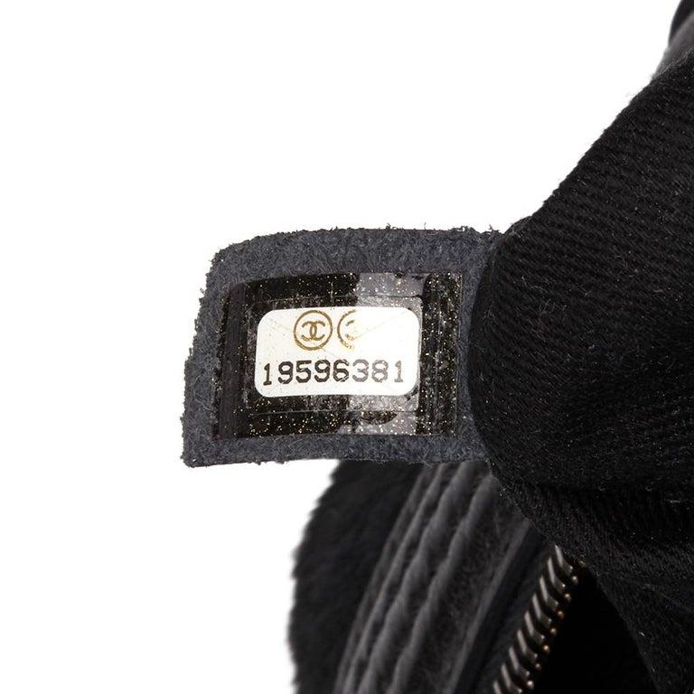 2014 Chanel Black Quilted Calfskin, Suede & Pony Fur Paris-Dallas Boston Bag For Sale 5