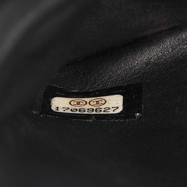 34043cbe3fab 2013 Chanel Black Lizard   Quilted Lambskin Medium Perfect Edge Classic  Flap Bag For Sale 5