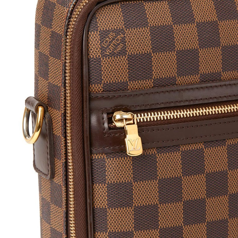 2008 Louis Vuitton Brown Damier Ebene Coated Canvas Sabana Computer Case  For Sale 2 cb524dcbe0ad1