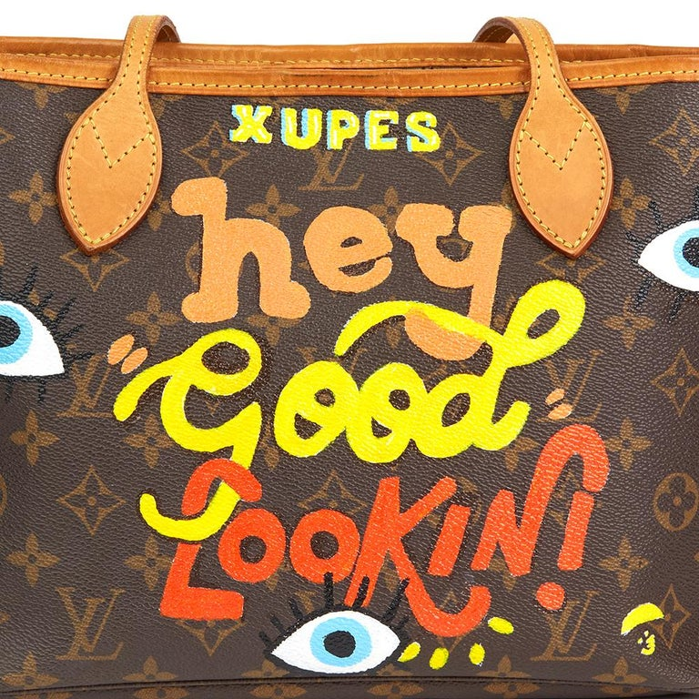 2007 Louis Vuitton Xupes X Year Zero London 'Hey Good Lookin' Neverfull PM For Sale 1