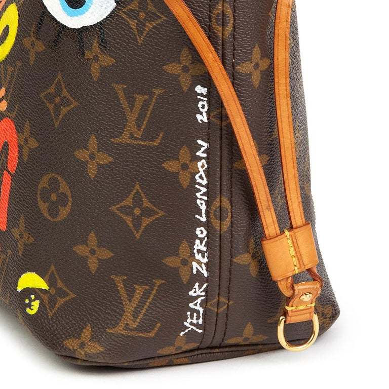 2007 Louis Vuitton Xupes X Year Zero London 'Hey Good Lookin' Neverfull PM For Sale 2