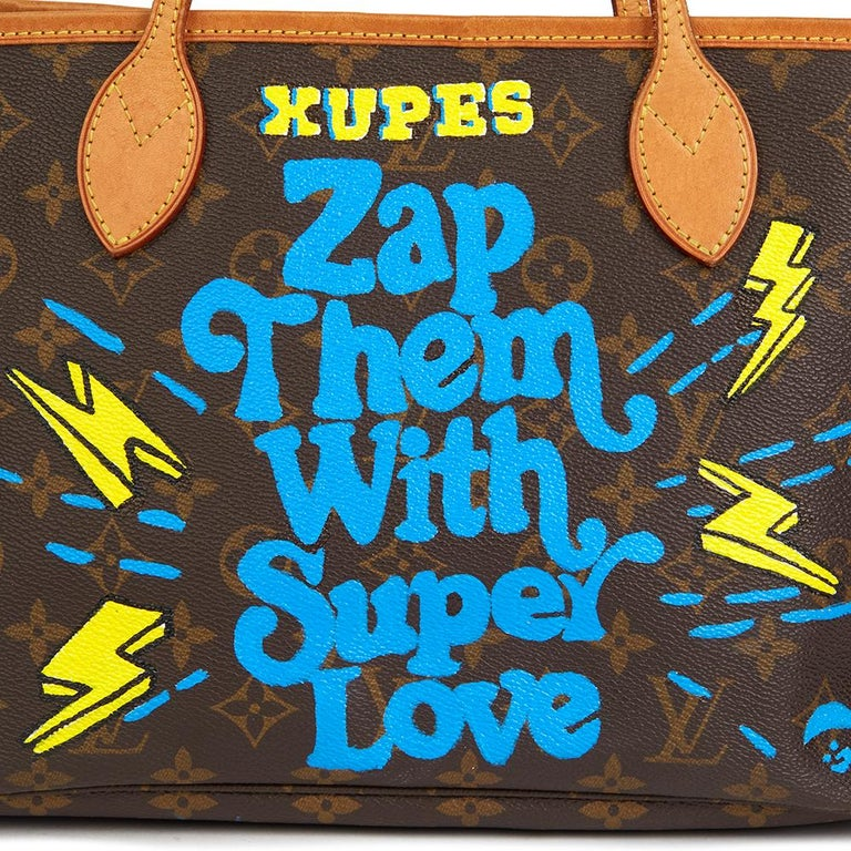 Louis Vuitton Xupes X Year Zero London Zap Them with Super Love Nevefull PM For Sale 1