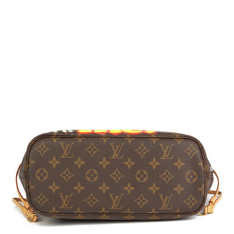 Women's Louis Vuitton Xupes X Year Zero London 'Satan Loves Me' Neverfull PM For Sale