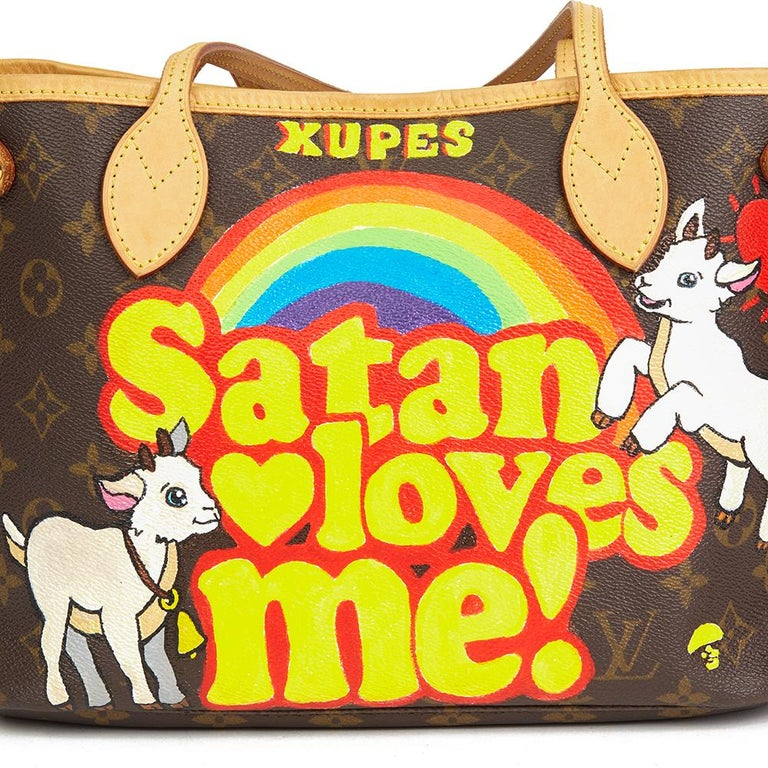 Louis Vuitton Xupes X Year Zero London 'Satan Loves Me' Neverfull PM For Sale 1