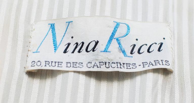 1935 circa Nina Ricci Haute Couture Gorgeous Black Satin Jacket    For Sale 2