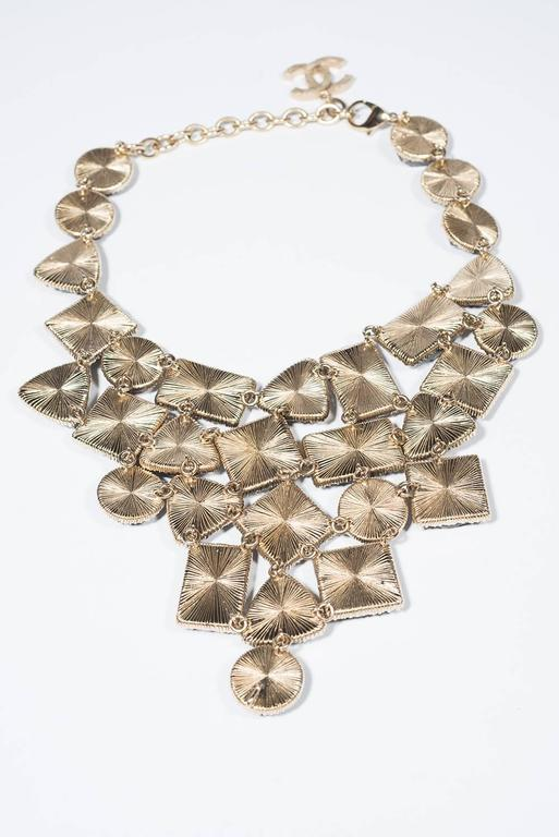1990's Chanel Stunning Marble Bib  Necklace  For Sale 1