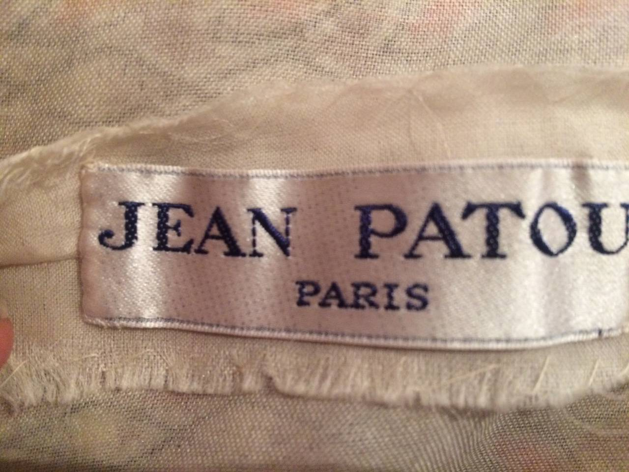 Jean Patou Vintage Haute Couture Amazing Embroidered Evening Dress 4